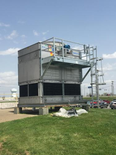 New Marley MD cooling tower at a manufacturing plant.