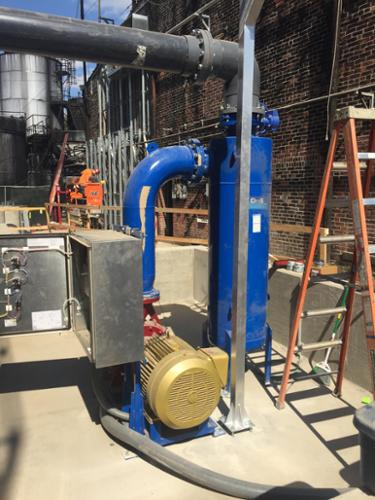 Griswold separator filtration system being installed at a local bourbon distillery.
